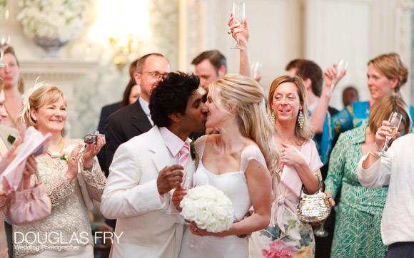 kiss wedding photograph in London