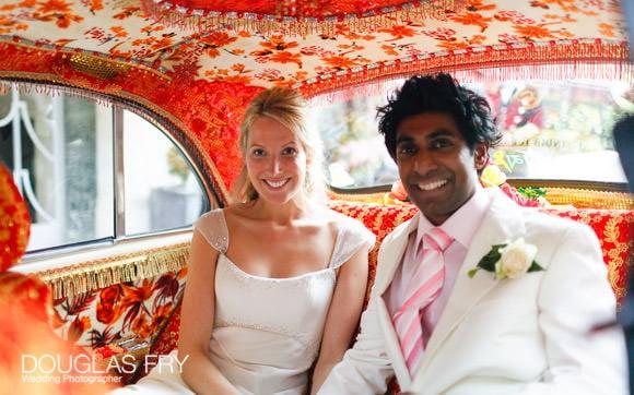 car wedding photograph Indian wedding