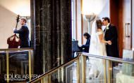 Couple photographed at wedding reception at RIBA in London