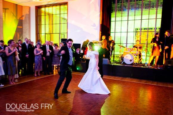 Couples wedding photograph dancing at RIBA