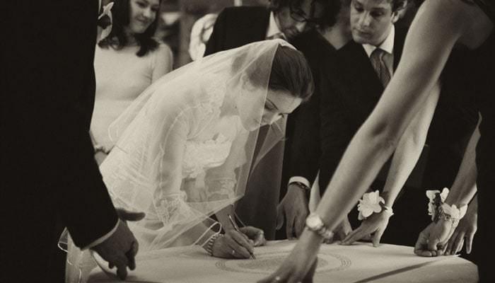 Douglas Fry Wedding Photographer London - Signing Register