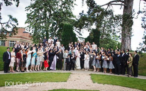 wedding photography at the Grove Hotel of all the guests