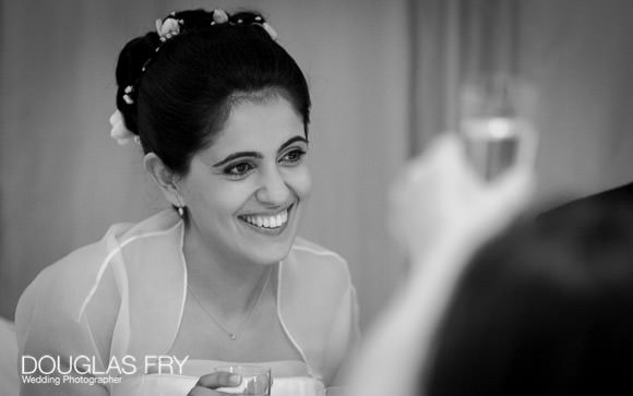 bride pictured enjoying the wedding day
