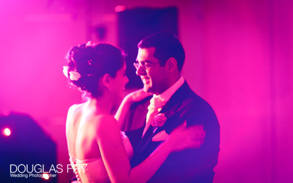 Photograph of the first dancing during wedding reception
