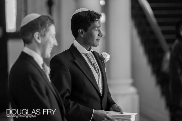 Awaiting brides arrival at London Synagogue