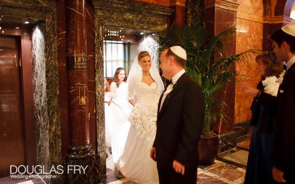 Lift at Mandarin with bride