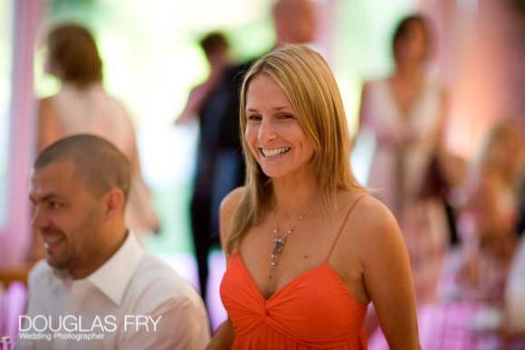 Guests at wedding reception in Ranelagh Gardens