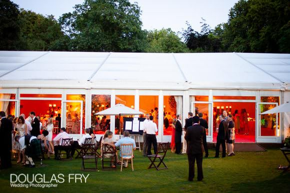 Wedding marquee in Chelsea at Ranelagh Gardens