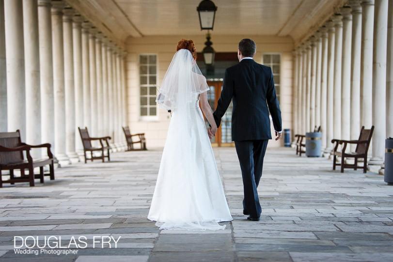 Wedding Photographer Queens House - Greenwich - Walking hand in hand
