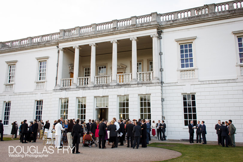 Wedding Photographer Queens House - Greenwich -outside