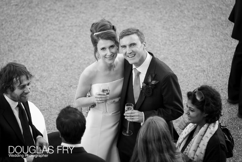 Wedding Photographer Queens House - Greenwich - couple in black and white