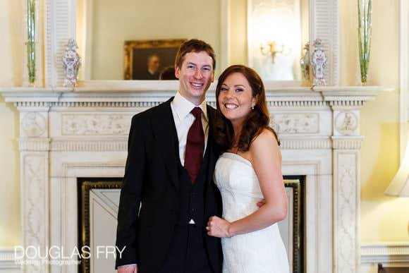 Bride and groom pictured together at Lansdowne