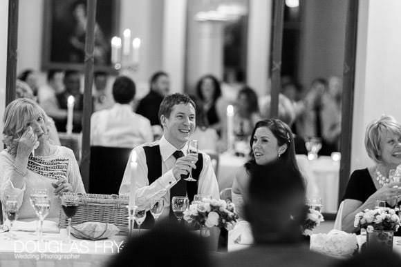 Wedding breakfast photographed at Lansdowne