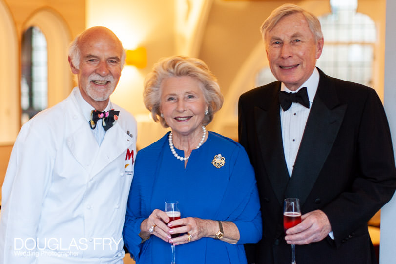 Photograph of anniversary party with Anton Mosimann
