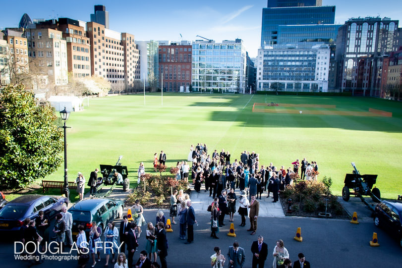 Looking out over lawn at HAC in London