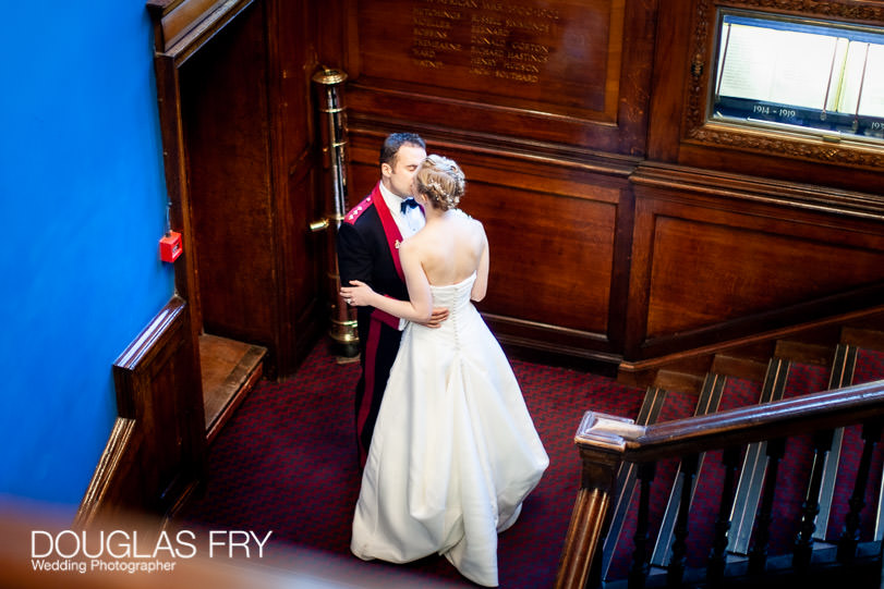 bride and groom photographed in hac