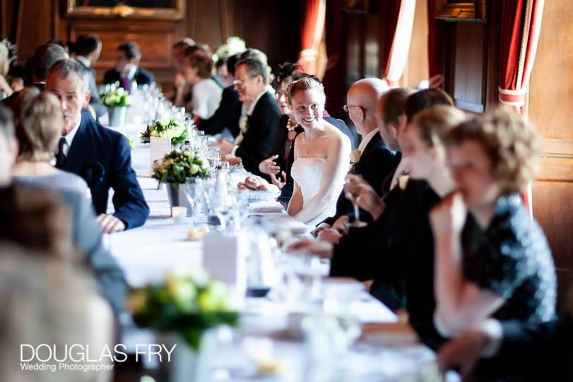 Wedding reception dinner at HAC - Douglas fry wedding photographer