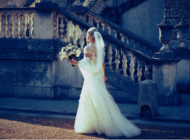 Wedding Photograph of the bride walking in front of Chiswick House