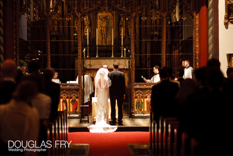 Wedding photographed at St Paul's Knightsbridge - the service