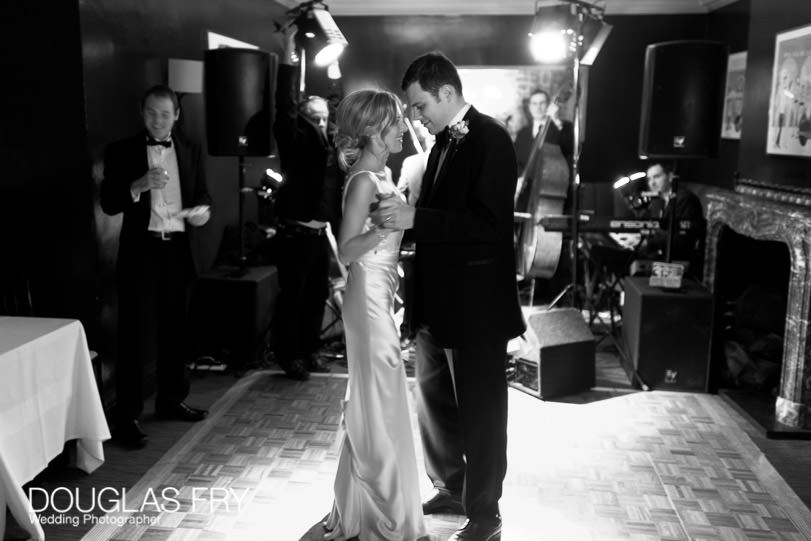 Dancing at wedding at Mosimanns club in London