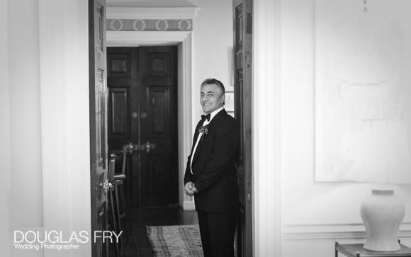Groom awaiting brides arrival at Lansdowne Club in London