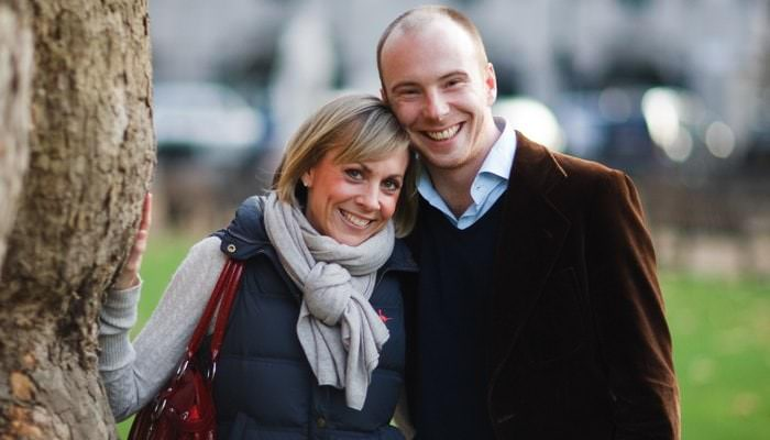Engagement Photographs in Berkeley Square for Penny and Dominic 1
