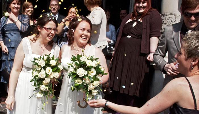 Kathy and Tracey Wedding Photographs - Fulham Town Hall Register Office and Grand Union Canal boat 1