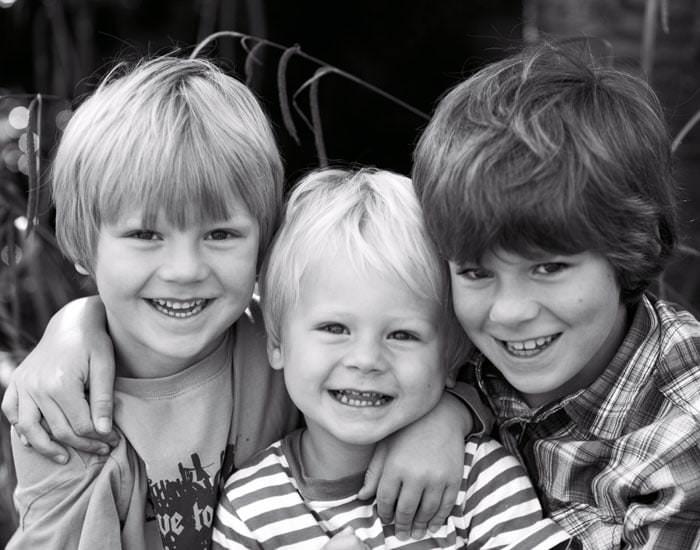Family portrait photographs taken at home 2