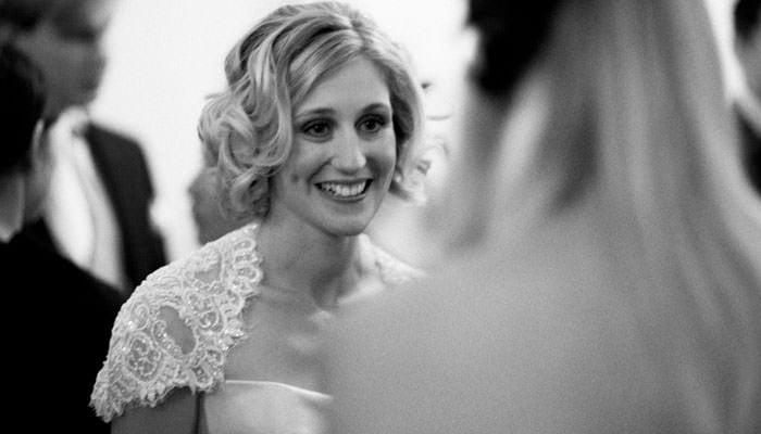 Bride during wedding at RIBA in London