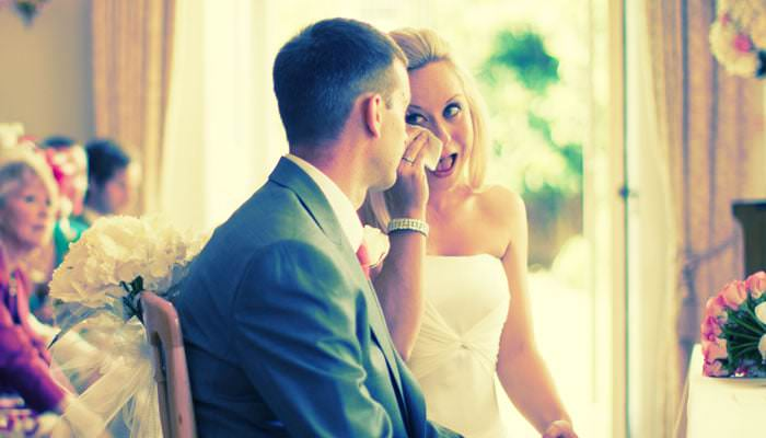 bride crying photo