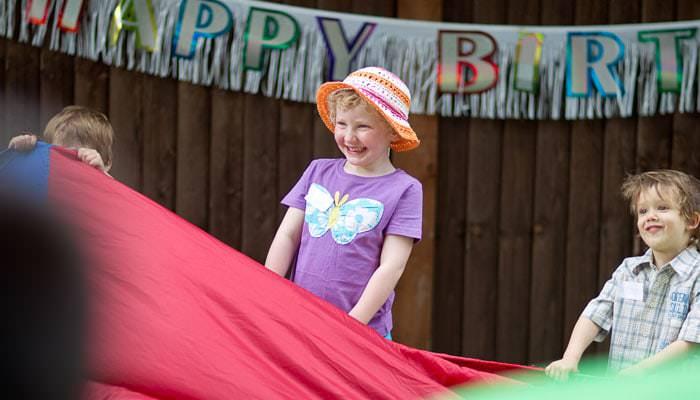 Birthday party photograph of children