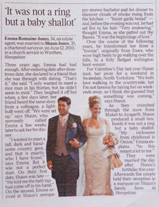 Wedding Photograph appearing in The Times Newspaper