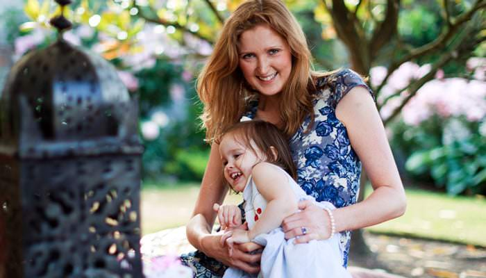 Garden Party Portrait Photograph Mother and Daughter