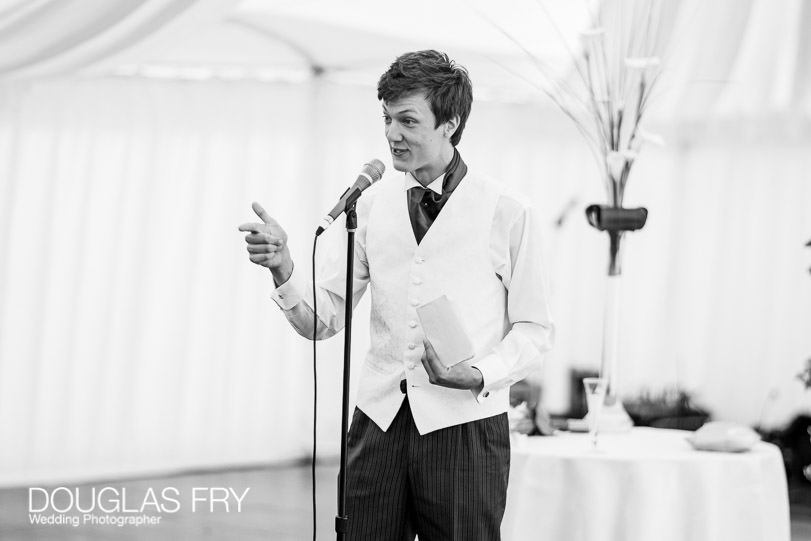 speaches photographed by Douglas Fry during country wedding