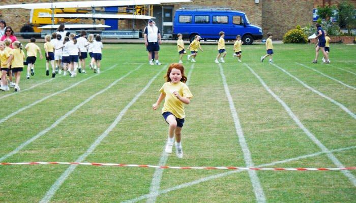 School sports day photograph