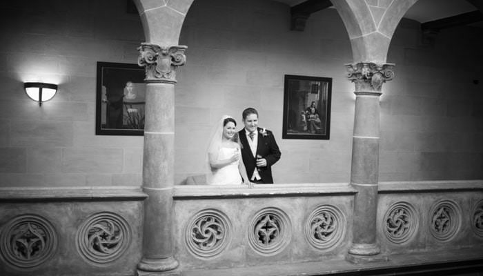 Wedding photography of bride and groom at Northcote House, Ascot