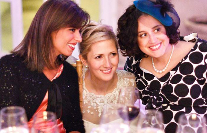 Wedding Photographer - Bride and friends at Syon Park, London