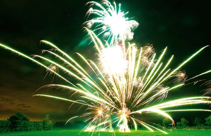 Photograph of Fireworks taken at Wedding in Wiltshire