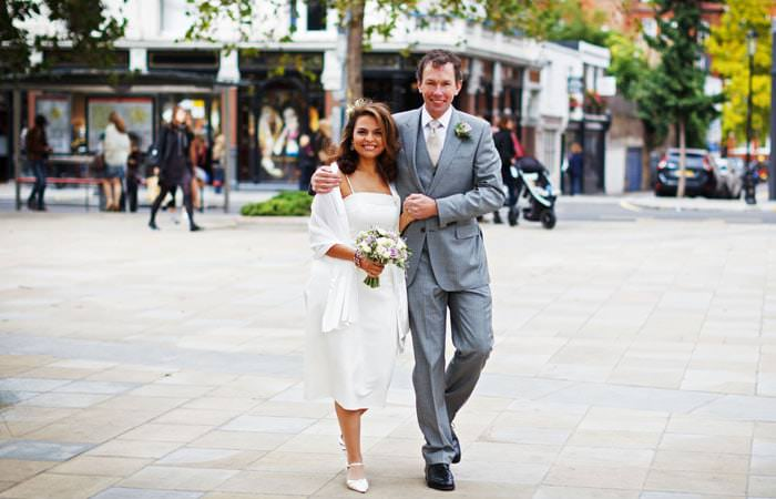 Wedding Photograph of couple on King's Road, London