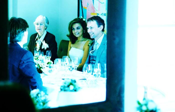 Wedding Photograph in Roussillon Restaurant, Pimlico, London