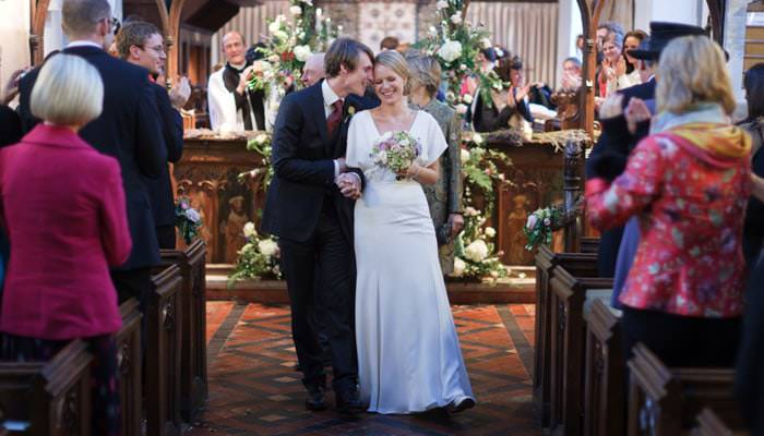 Wedding Photographer Bride and Groom at St Dunstan's, Monks Risborough, Buckinghamshire