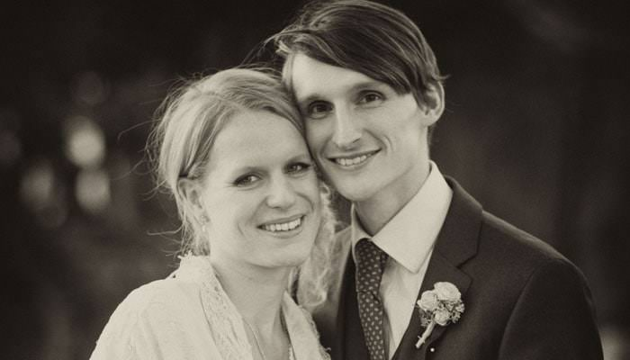 Wedding Photographer Black and White Photograph of Bride and Groom in Buckinghamshire
