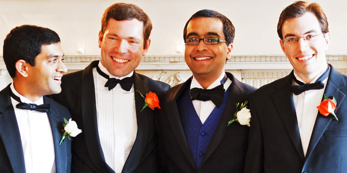 Groom and Ushers Wedding Photograph at Chandos House, London