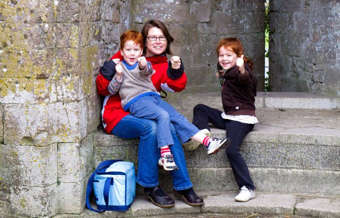 Photograph of Family at Corfe Castle in Dorset