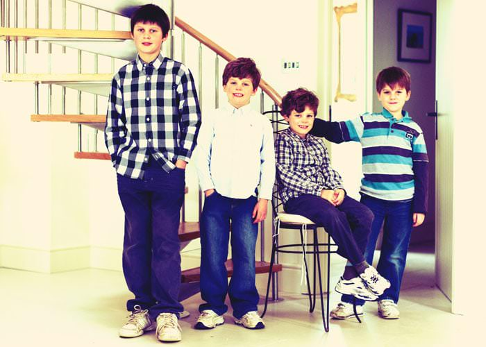 Family Photography of Fenwick Boys at Home in Gloucestershire