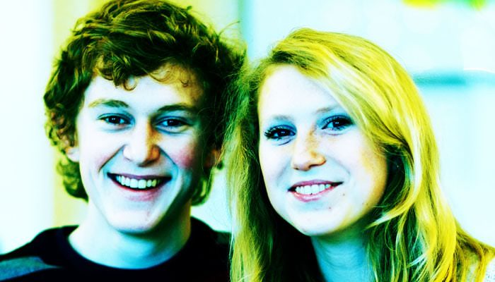 Family Portrait Photograph of Brother and Sister in Clapham
