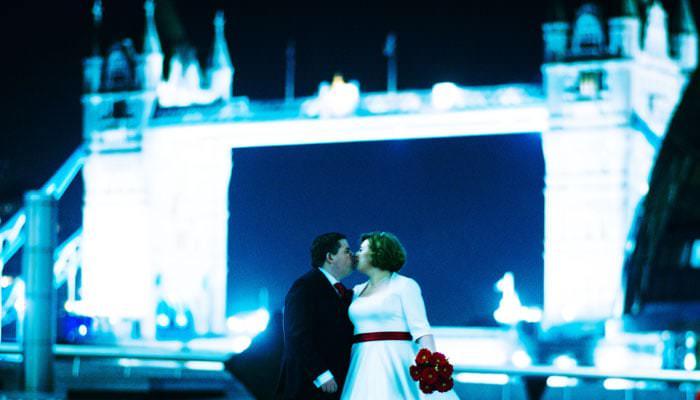 Bride and Groom  Wedding Photographer Tower Bridge London