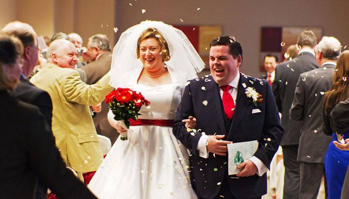Bride and Groom by Wedding Photographer Hilton Hotel London