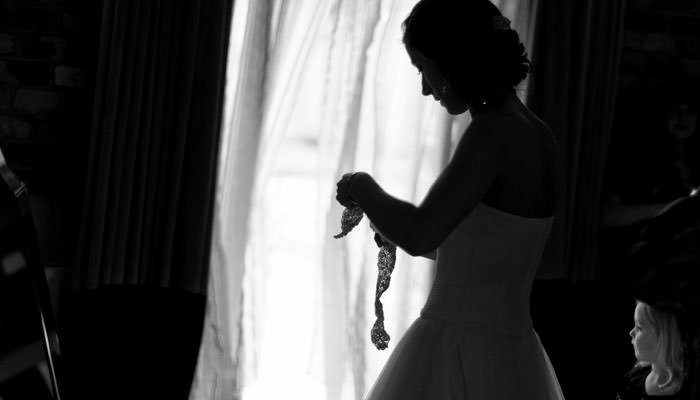 Wedding Photograph Bride Getting Ready at Rivervale Barn Hampshire