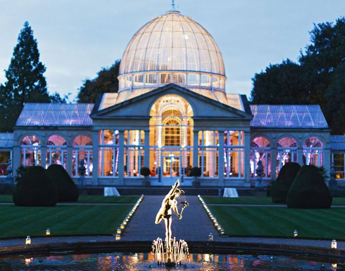 Wedding Photograph Great Conservatory Syon Park at Night